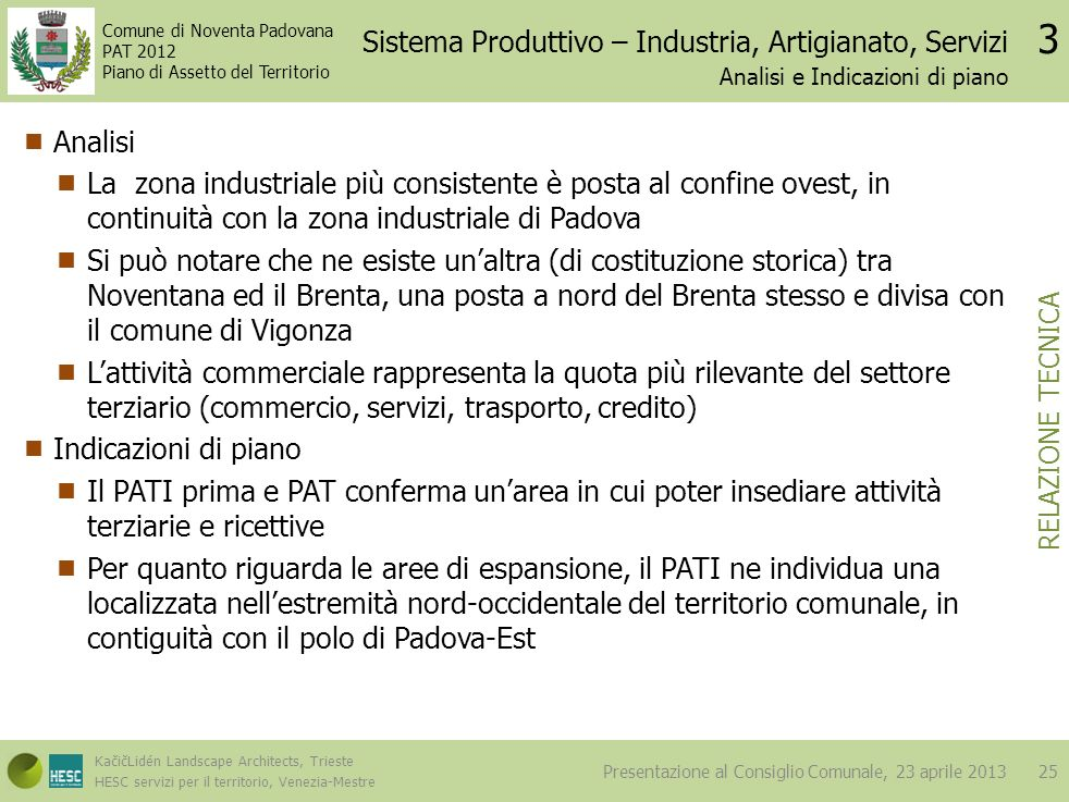 Sistema Produttivo – Industria, Artigianato, Servizi