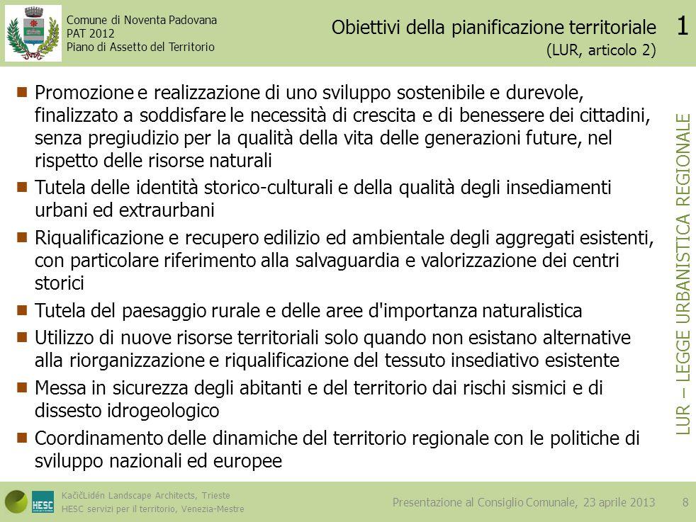 Obiettivi della pianificazione territoriale