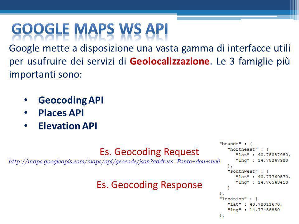 Google MAPS ws api