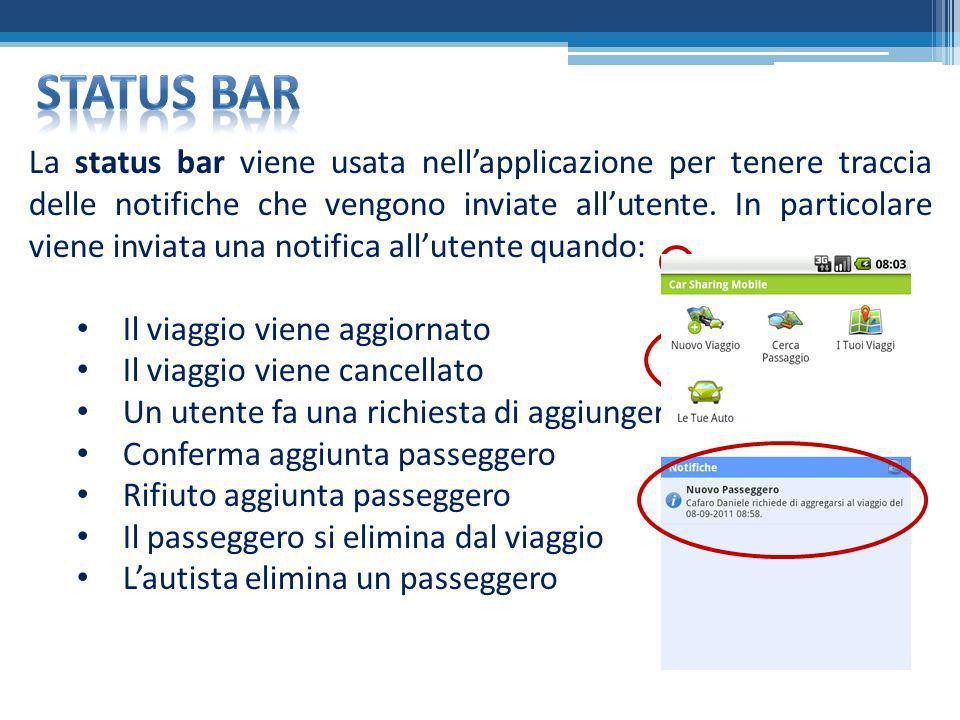 Status bar