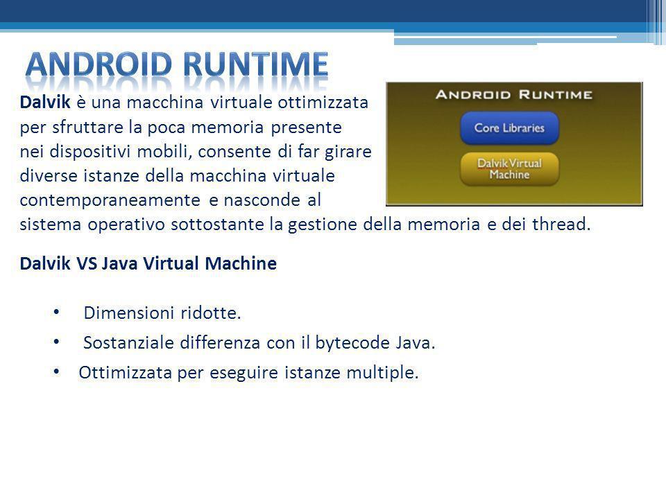 Android runtime Dalvik è una macchina virtuale ottimizzata