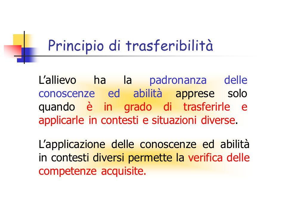 Principio di trasferibilità