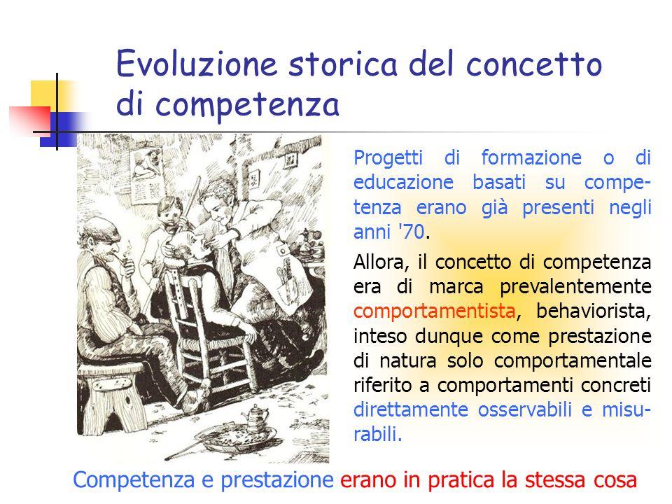 Evoluzione storica del concetto di competenza