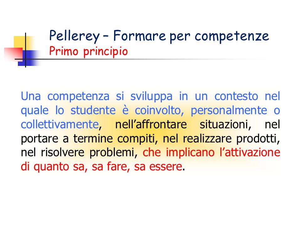 Pellerey – Formare per competenze Primo principio