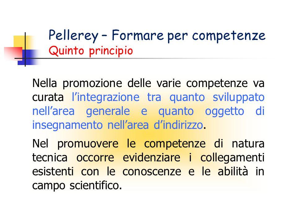 Pellerey – Formare per competenze Quinto principio