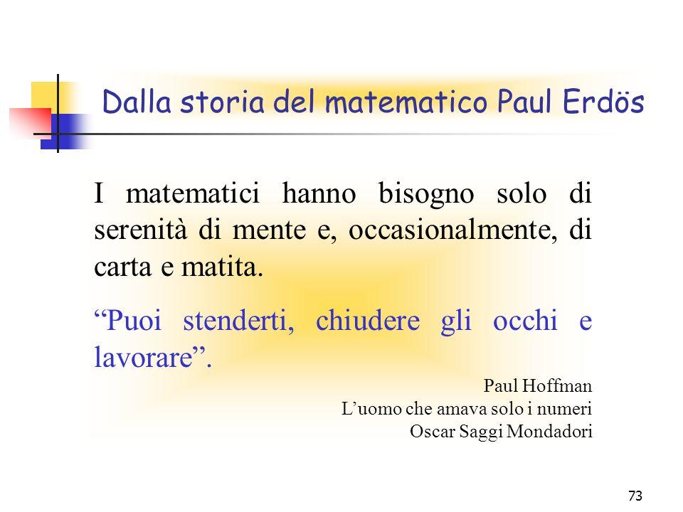 Dalla storia del matematico Paul Erdös