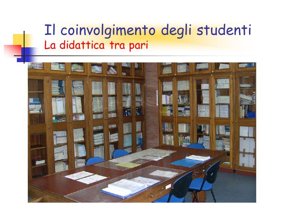 Il coinvolgimento degli studenti La didattica tra pari