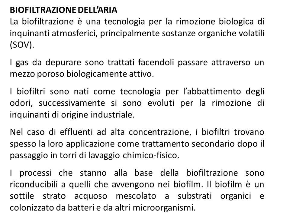 BIOFILTRAZIONE DELL'ARIA