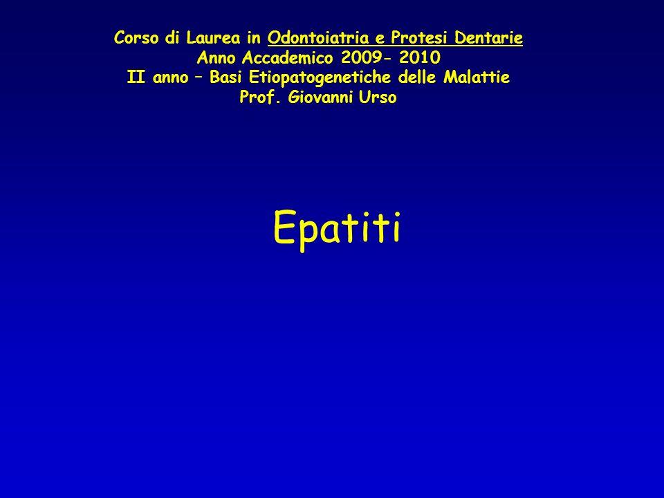 II anno – Basi Etiopatogenetiche delle Malattie