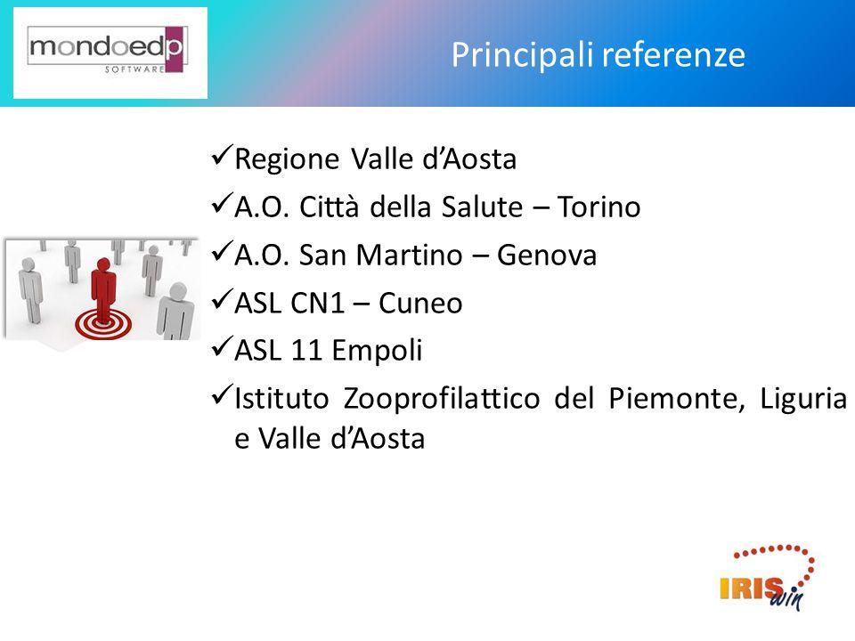 Principali referenze Regione Valle d'Aosta