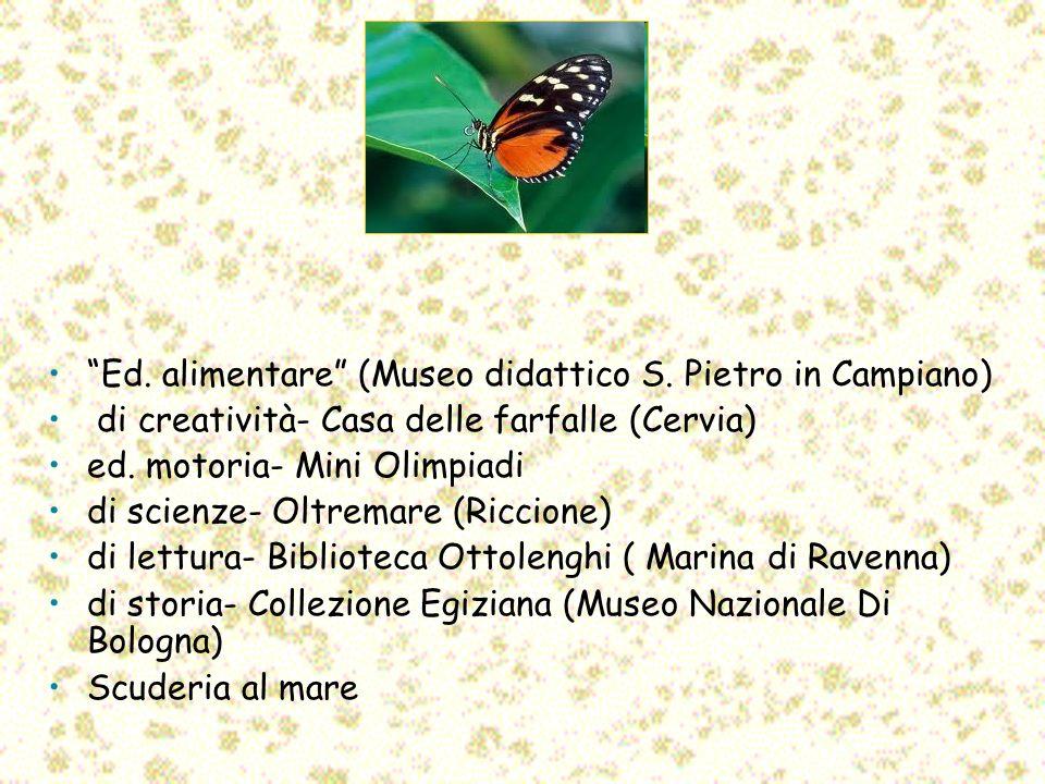 Ed. alimentare (Museo didattico S. Pietro in Campiano)