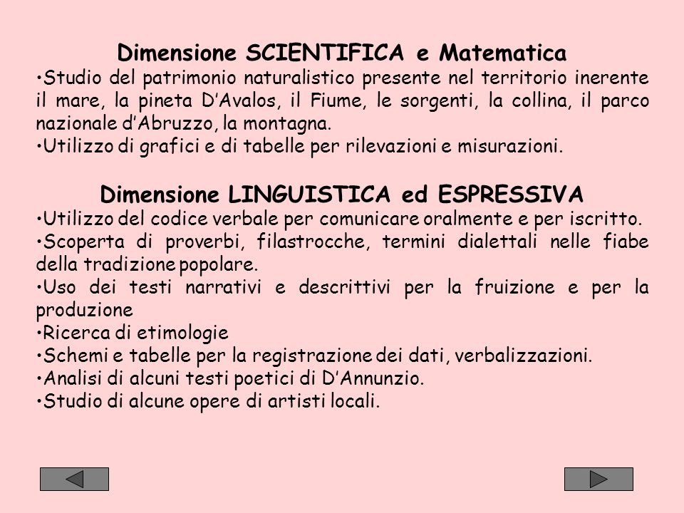 Dimensione SCIENTIFICA e Matematica