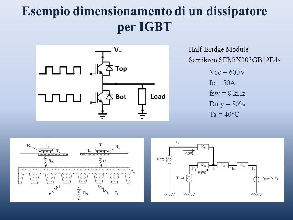 Esempio dimensionamento di un dissipatore per IGBT