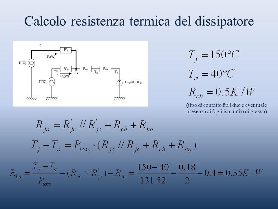 Calcolo resistenza termica del dissipatore