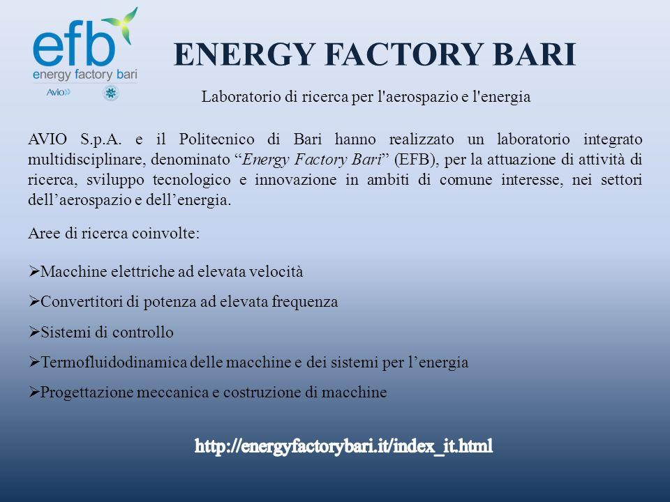 Laboratorio di ricerca per l aerospazio e l energia
