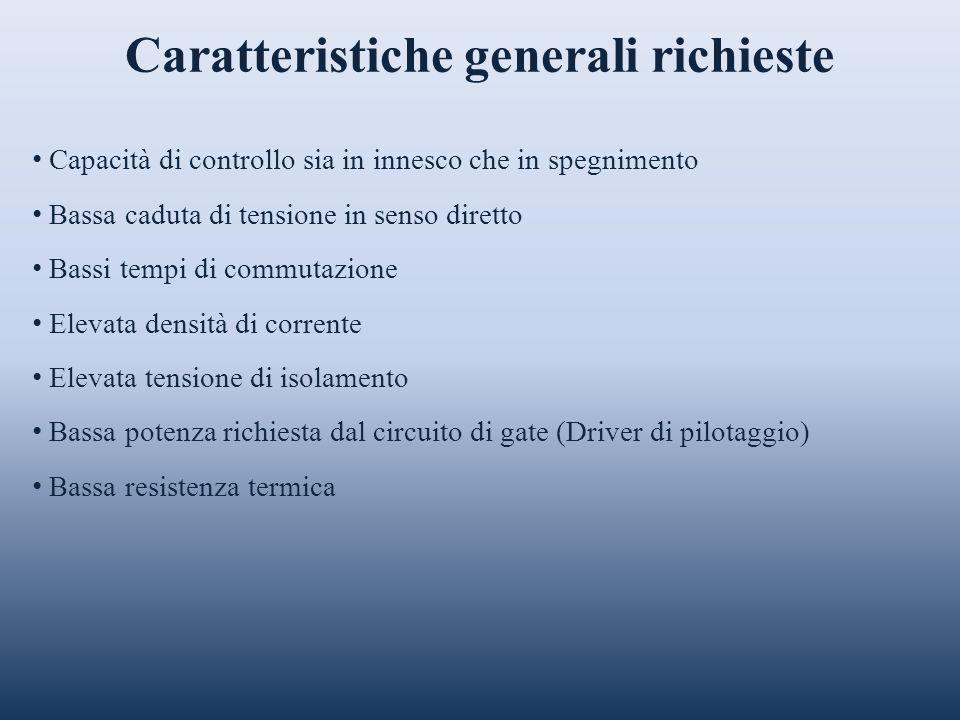 Caratteristiche generali richieste