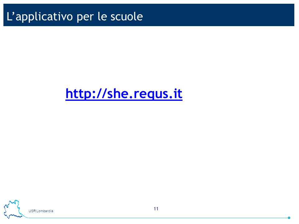 L'applicativo per le scuole