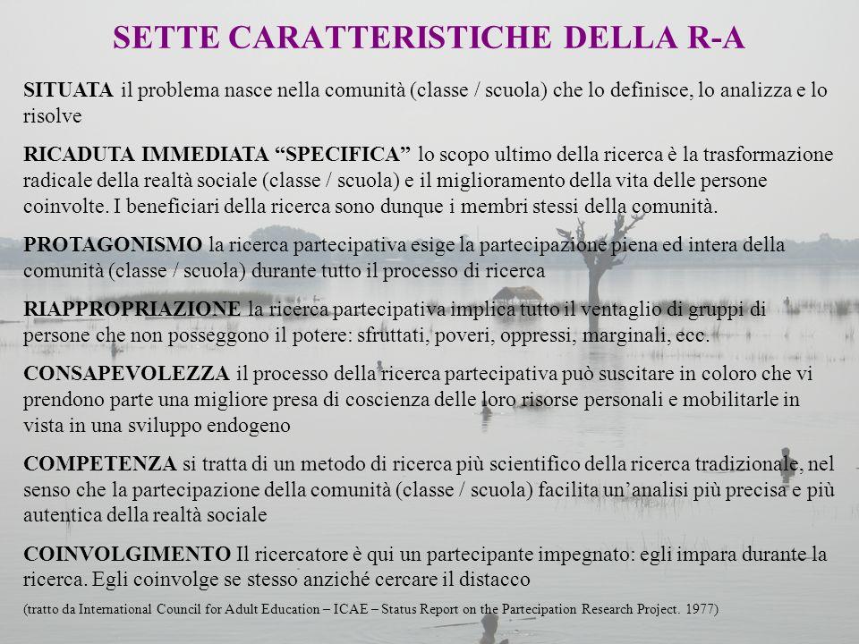 SETTE CARATTERISTICHE DELLA R-A