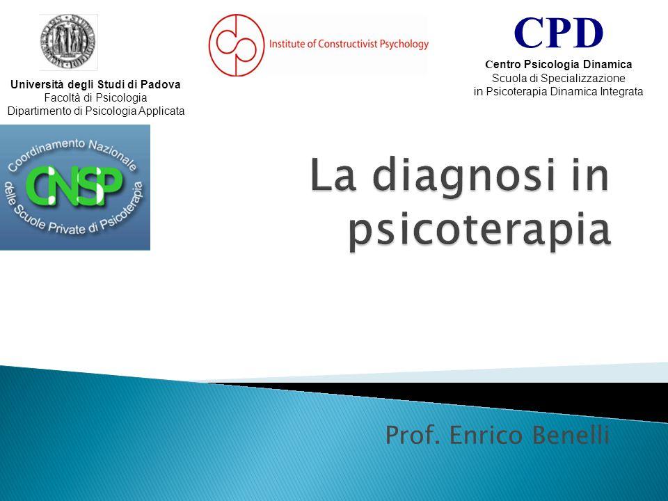 La diagnosi in psicoterapia