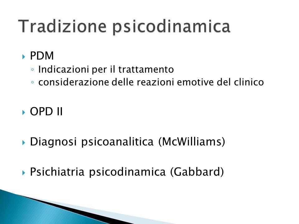 Tradizione psicodinamica