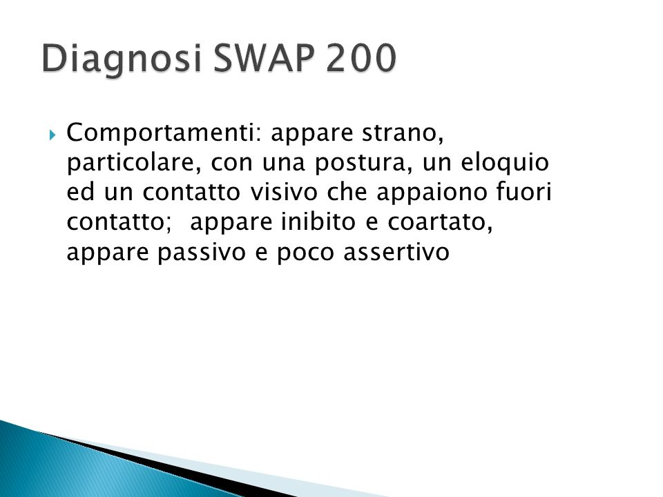 Diagnosi SWAP 200