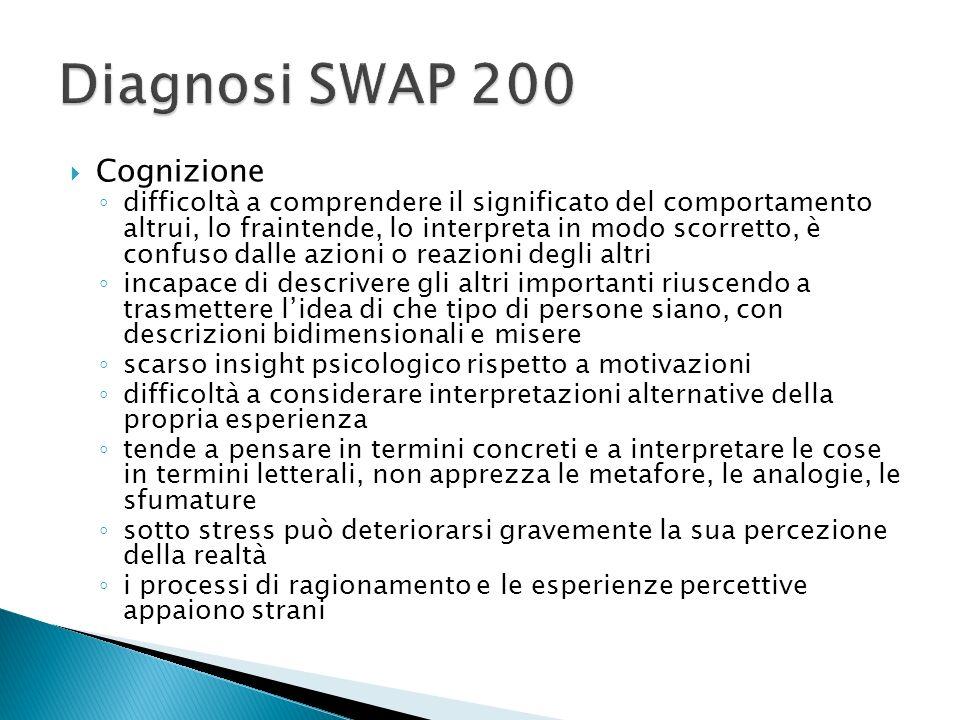 Diagnosi SWAP 200 Cognizione
