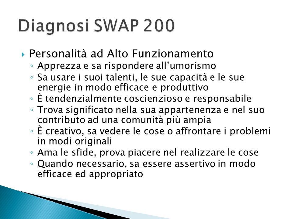 Diagnosi SWAP 200 Personalità ad Alto Funzionamento