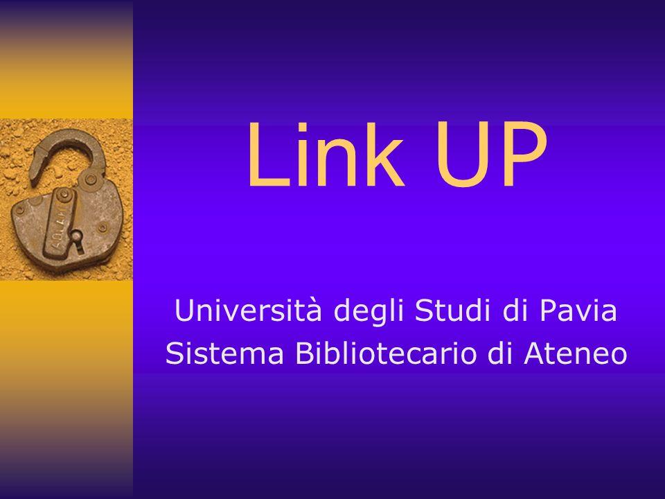 Università degli Studi di Pavia Sistema Bibliotecario di Ateneo