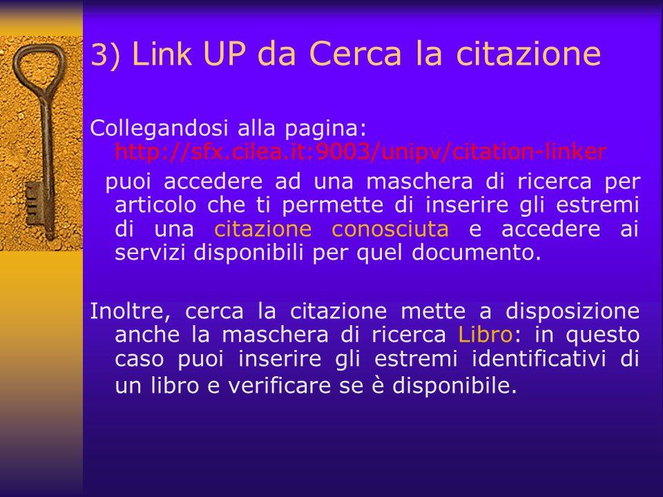 3) Link UP da Cerca la citazione