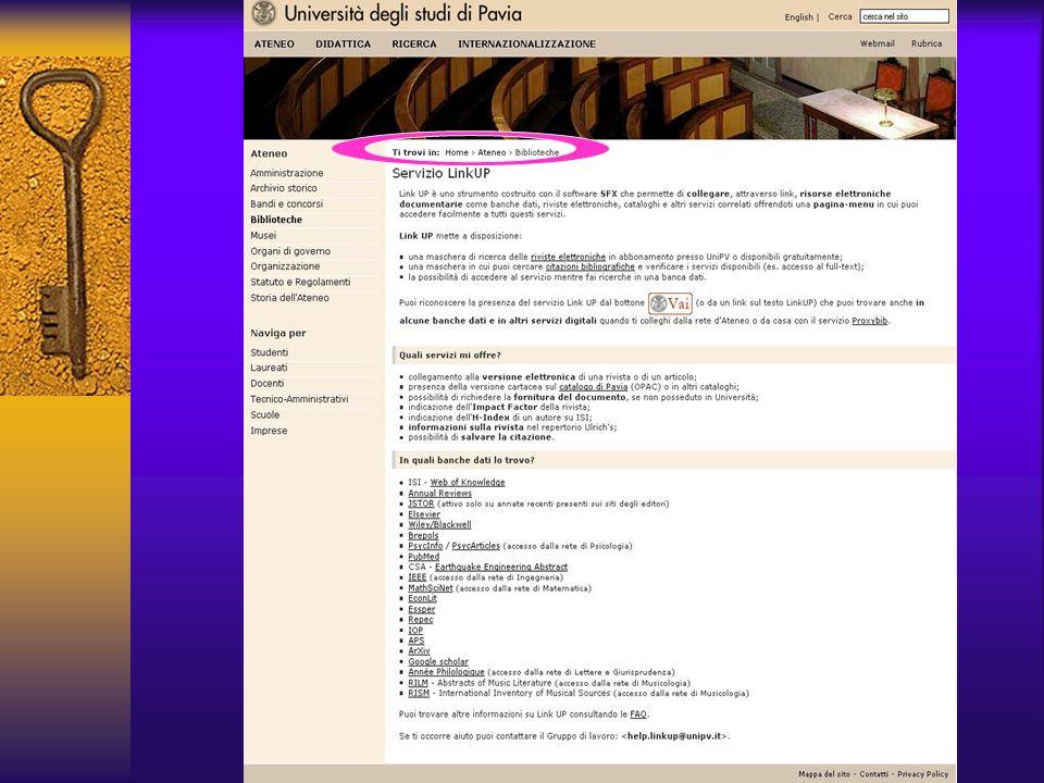 Pagina di presentazione servizio LinkUP