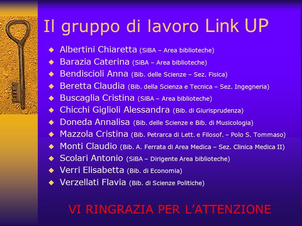 Il gruppo di lavoro Link UP
