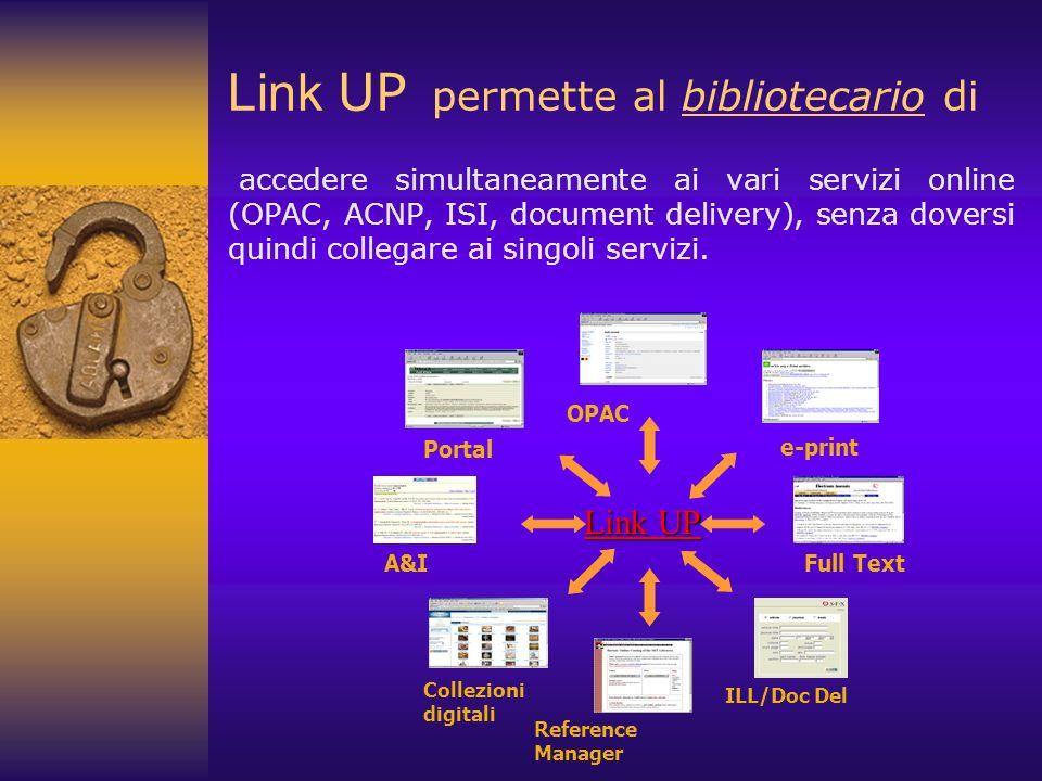 Link UP permette al bibliotecario di
