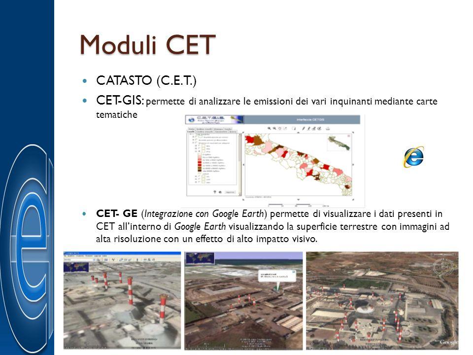 Moduli CET CATASTO (C.E.T.)
