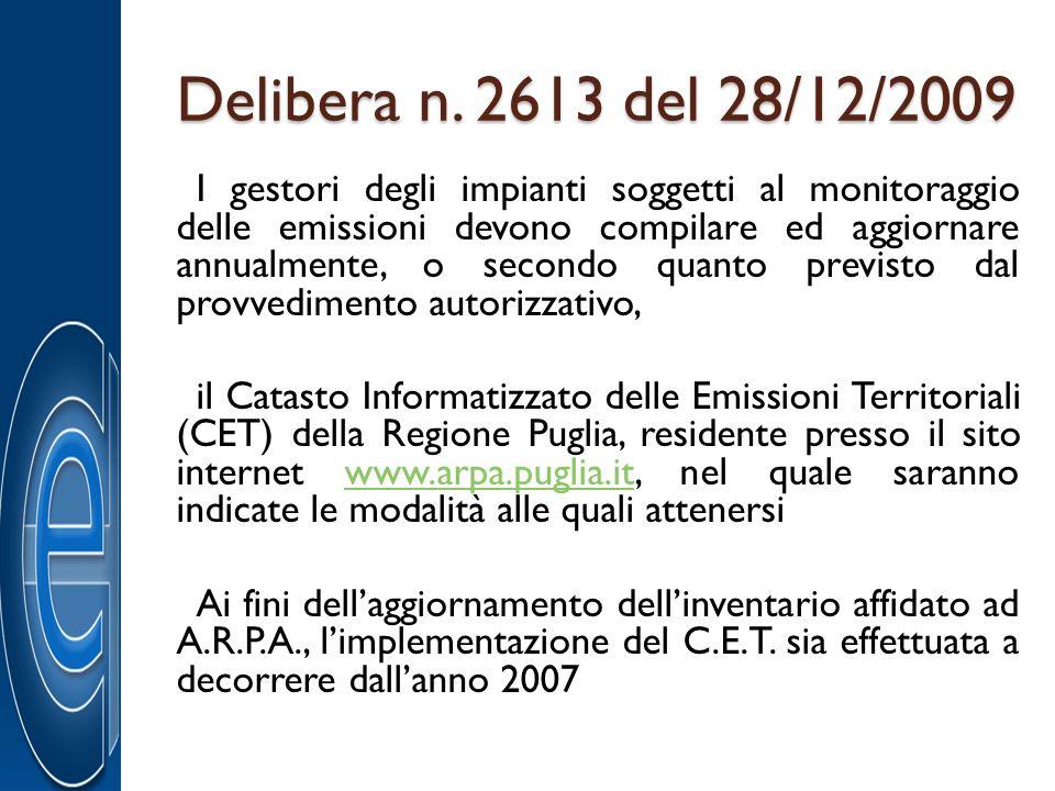 Delibera n. 2613 del 28/12/2009