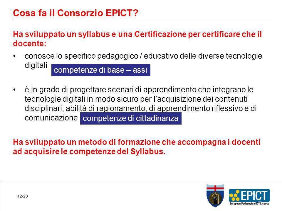 Cosa fa il Consorzio EPICT