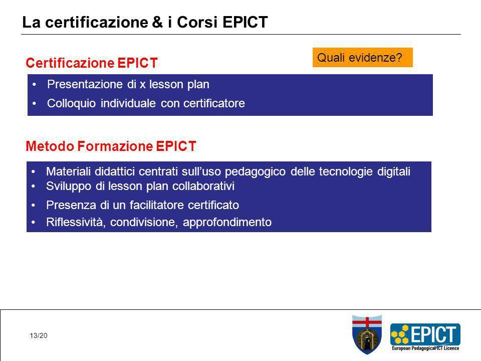 La certificazione & i Corsi EPICT