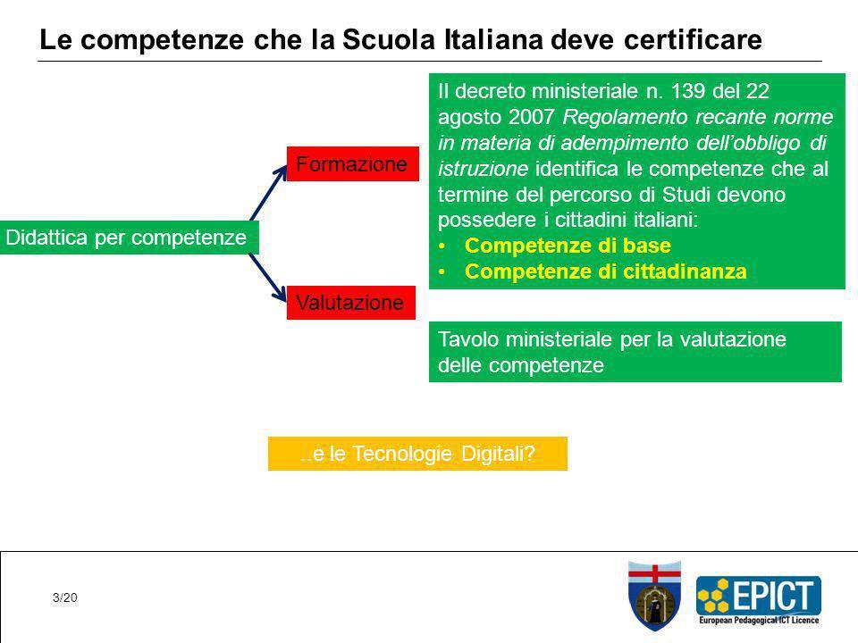 Le competenze che la Scuola Italiana deve certificare