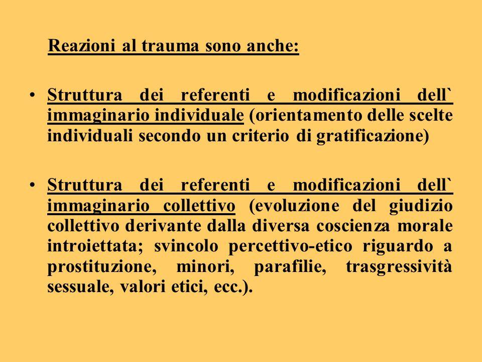 Reazioni al trauma sono anche: