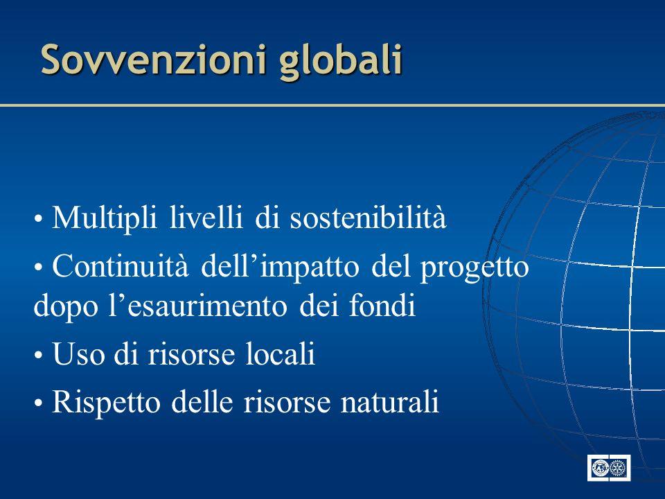 Sovvenzioni globali Multipli livelli di sostenibilità