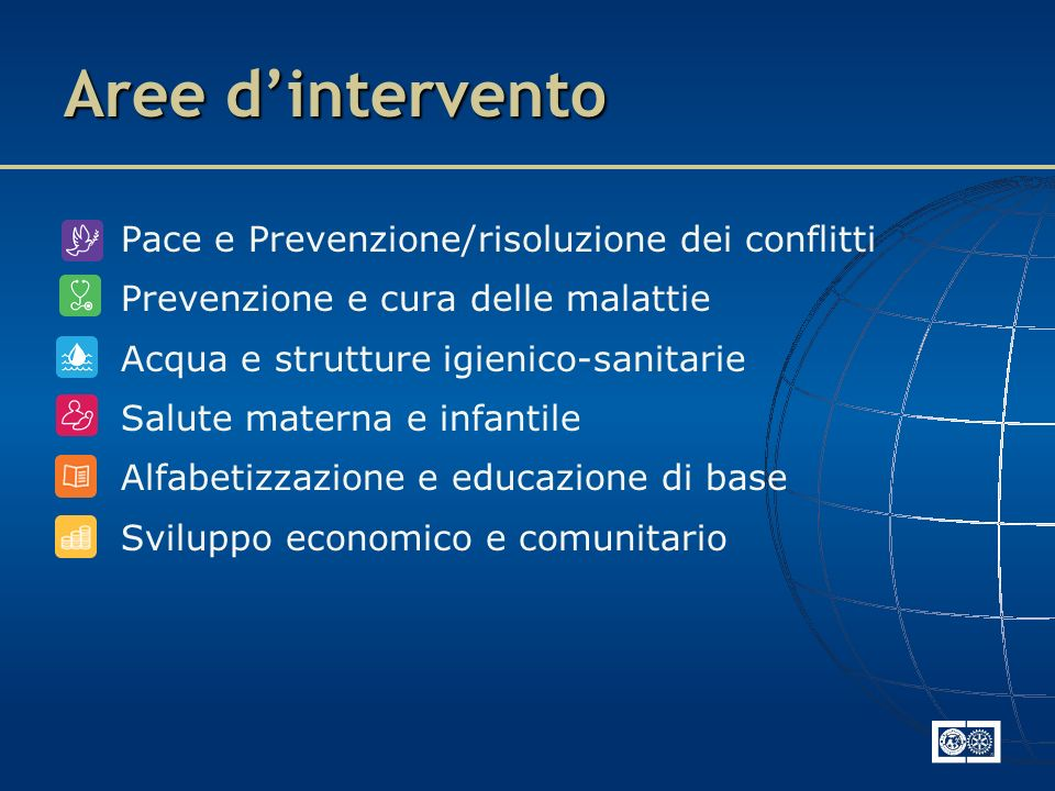 Aree d'intervento Pace e Prevenzione/risoluzione dei conflitti