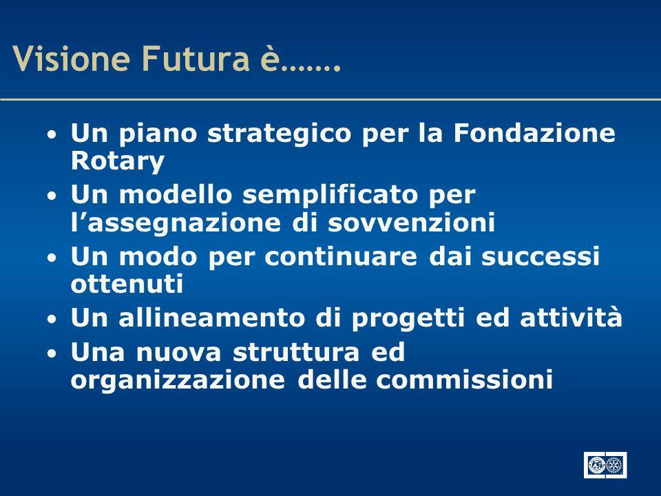 Visione Futura è……. Un piano strategico per la Fondazione Rotary