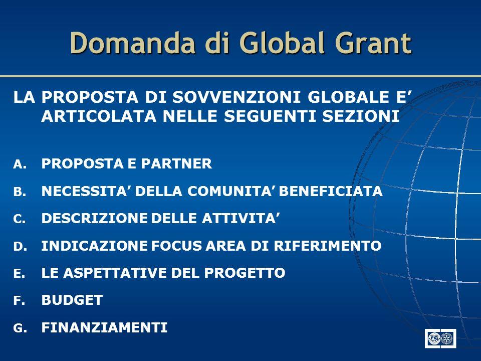 Domanda di Global Grant