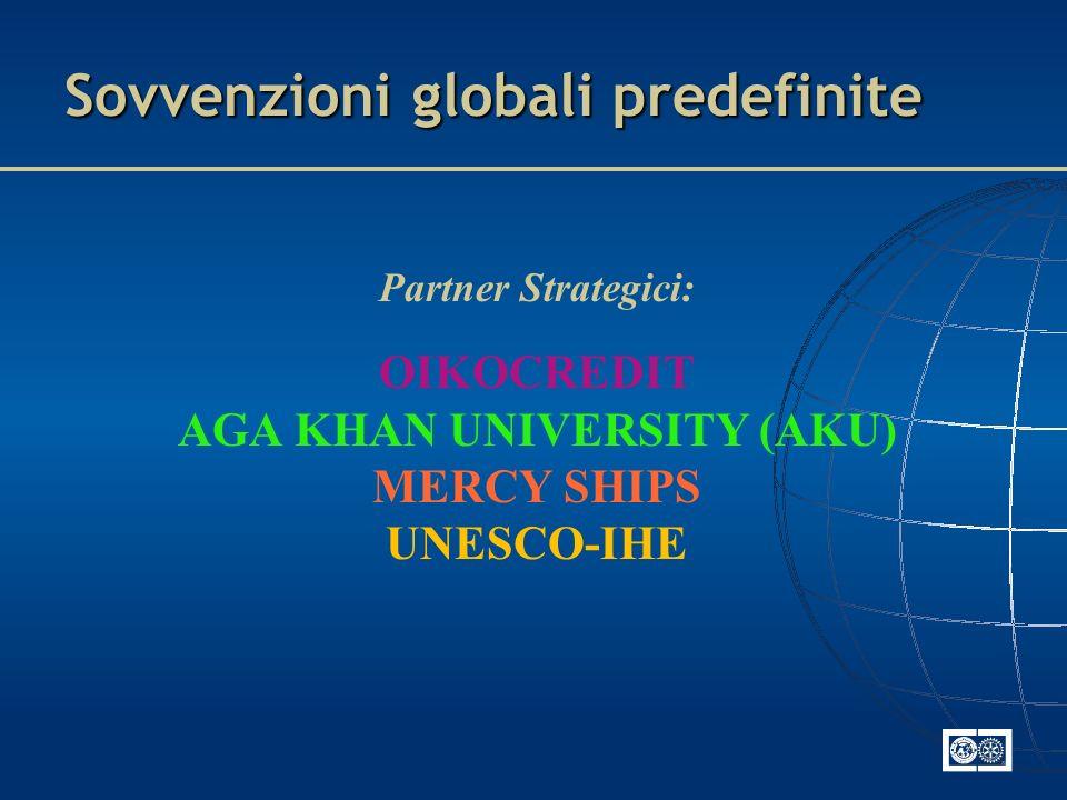 Sovvenzioni globali predefinite