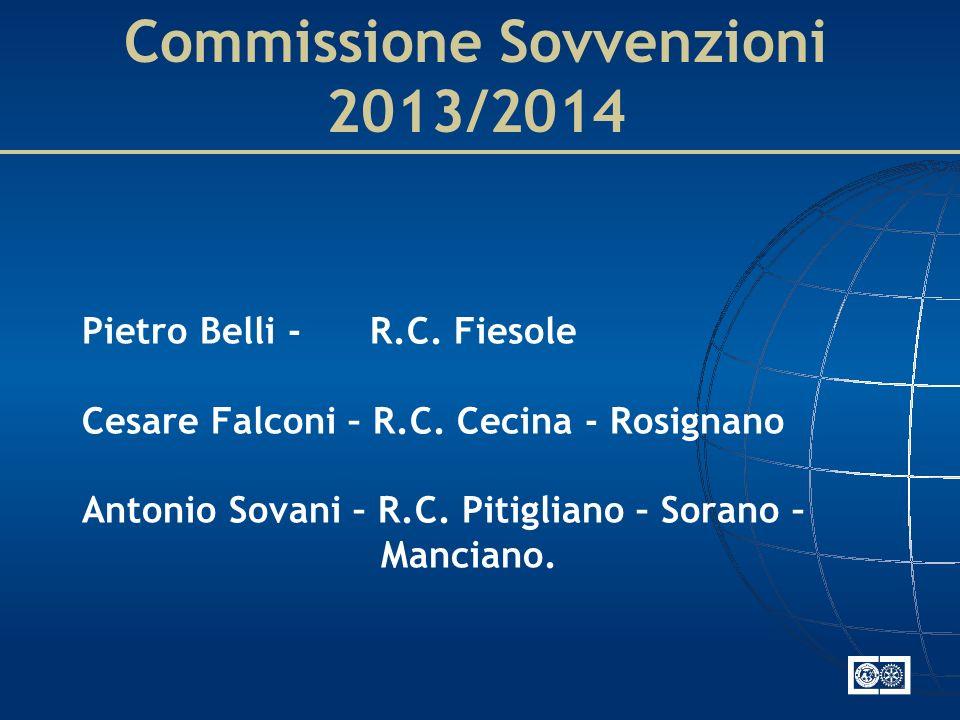 Commissione Sovvenzioni 2013/2014