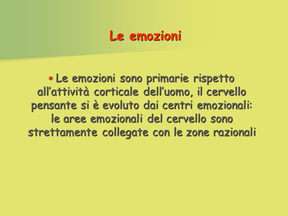 Le emozioni