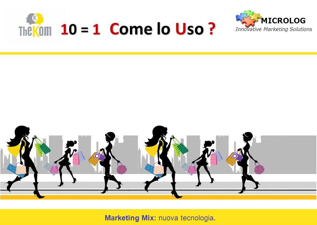 Marketing Mix: nuova tecnologia.