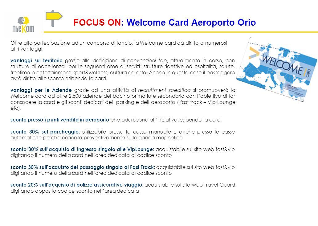 FOCUS ON: Welcome Card Aeroporto Orio