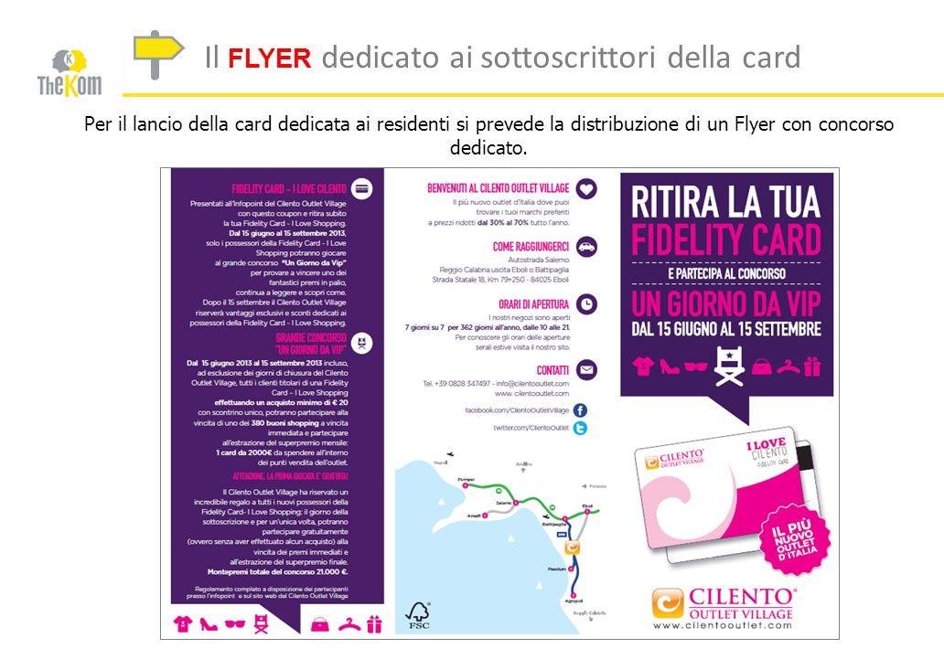 Il FLYER dedicato ai sottoscrittori della card