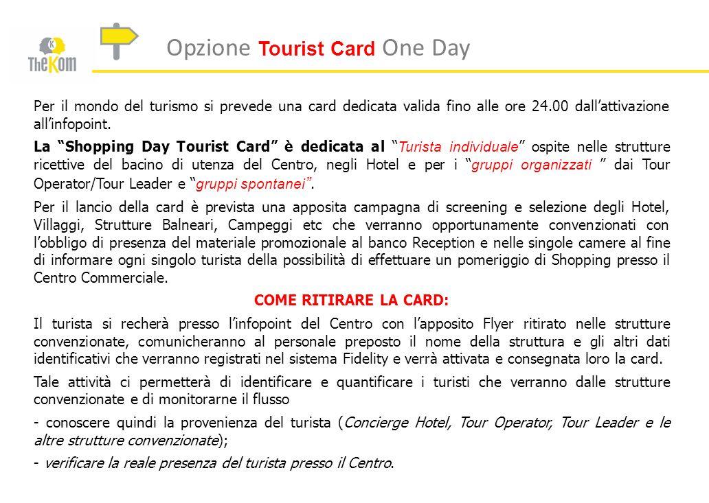 Opzione Tourist Card One Day