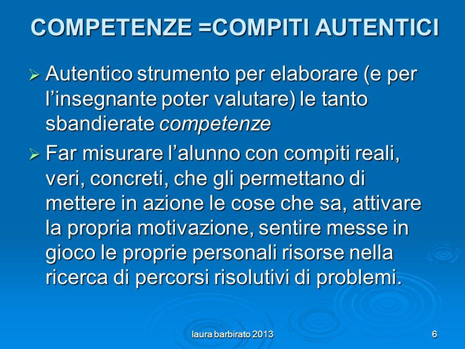 COMPETENZE =COMPITI AUTENTICI